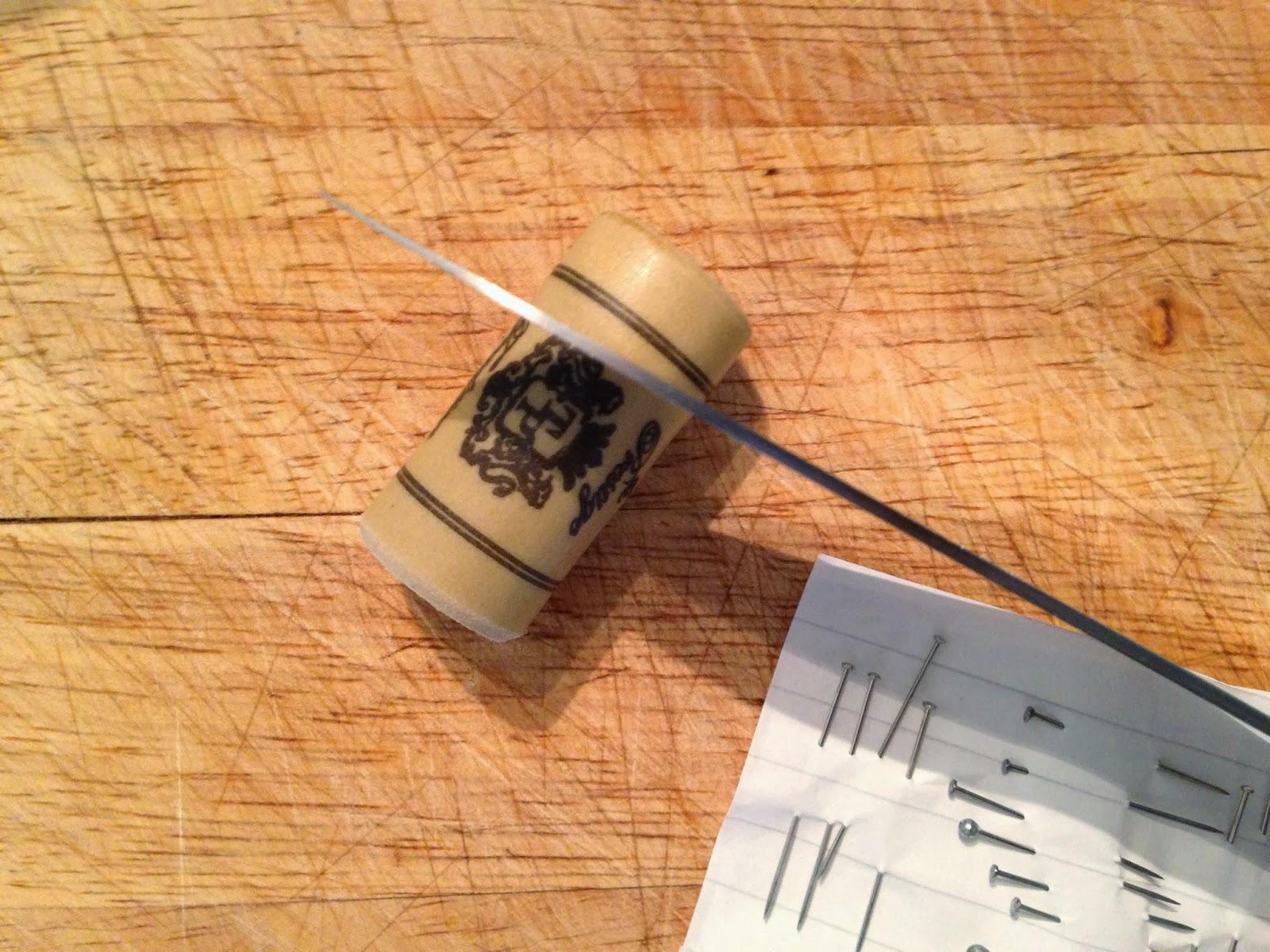 Sloe Prcking Device - Cutting the Cork